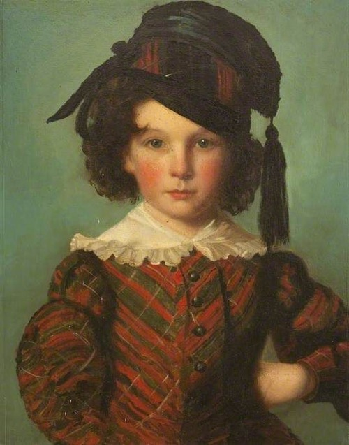 Фото. Portrait of a Young Boy Dressed in Tartan by unknown artist. North East Lincolnshire Museum Service.