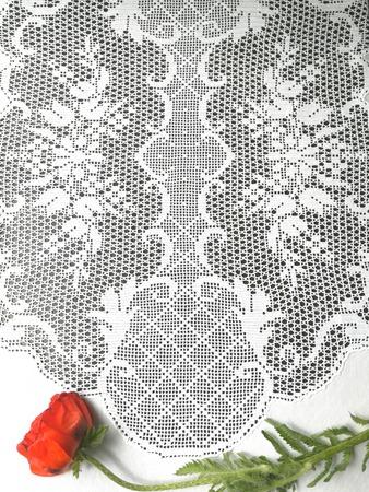 Фото. Скатерть в технике филейного вязания.  Автор работы - Tatyana007