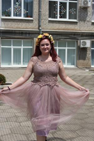 Фото. Платье для дочери - вязаный верх и юбка из фатина! Автор работы - Марина Мандарина