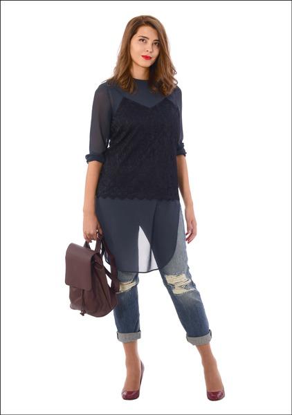 Комплект №4 . Топ, джинсы и туфли – Mango. Рюкзак – Bershka