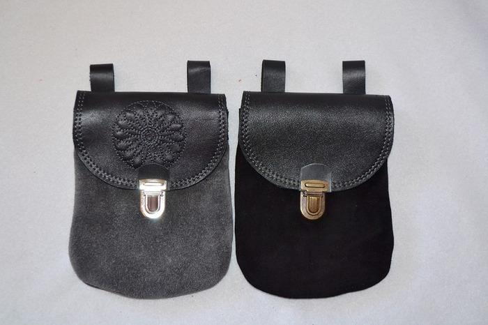 Фото. Поясные сумочки - подойдут и для дам, и для джентльменов.  А автор работы - Drakken - поможет вам подобрать подходящий цвет.