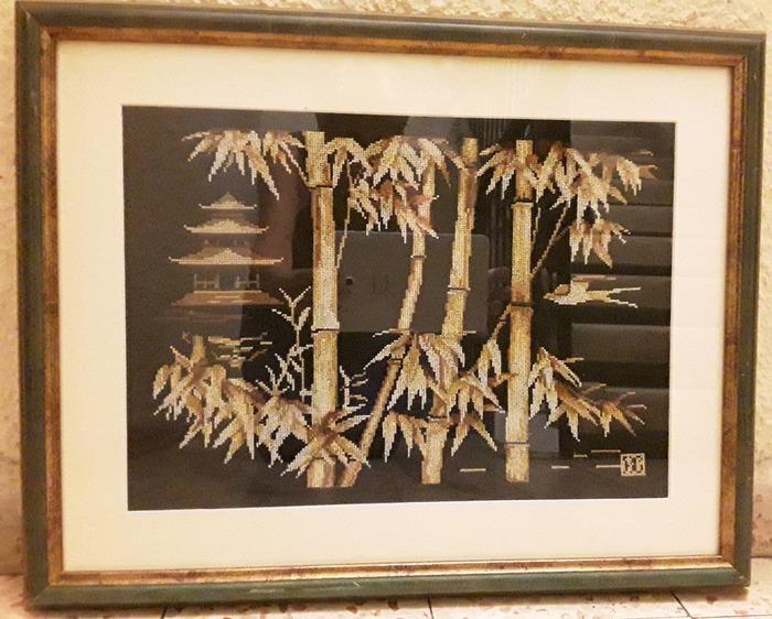 """Фото. Вышитая картина """"Бамбук"""".  Автор работы - Lavana"""