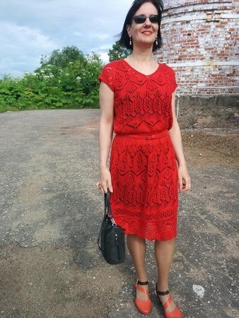 Фото. Платье в стиле шетланд (ленивый). Автор  работы - Oriolus oriolus