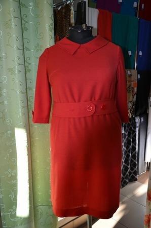 Фото. Платье из шерстяного крепа.  Автор работы - Сахаринка