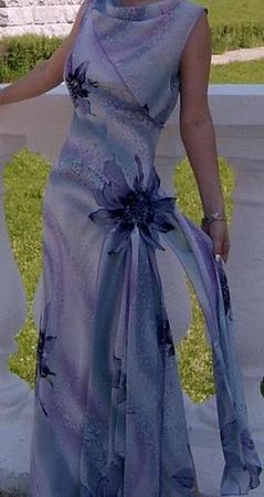 Фото. Платье из креп-жоржета.  Автор работы - NinaR