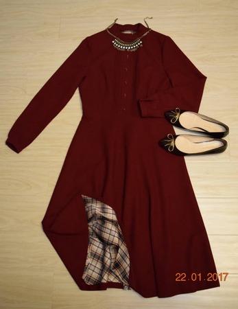 Фото. Платье из шерстяного крепа. Автор работы - buso