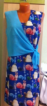 Фото. ... и платье из этой ткани.  Автор работы - Otmorskaya