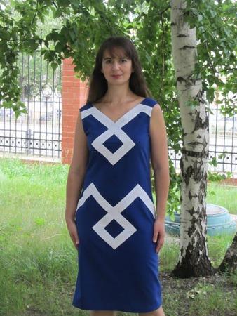 Фото. Платье - креп с эластаном.  Автор работы - Tolstik1