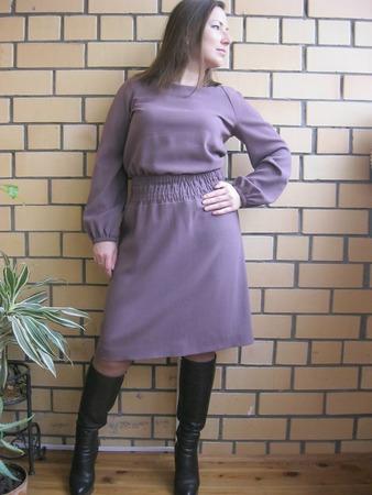 Фото. Платье. Ткань креповая итальянская шерсть.  Автор работы - Lelenka