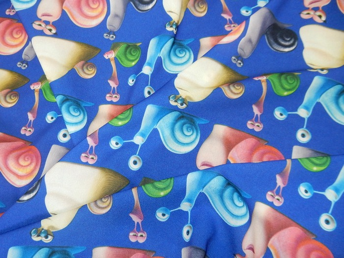 "Фото. Креп-шифон ""Улитки"", состав: полиэстер - 100%.   Автор фото - Елена-05"