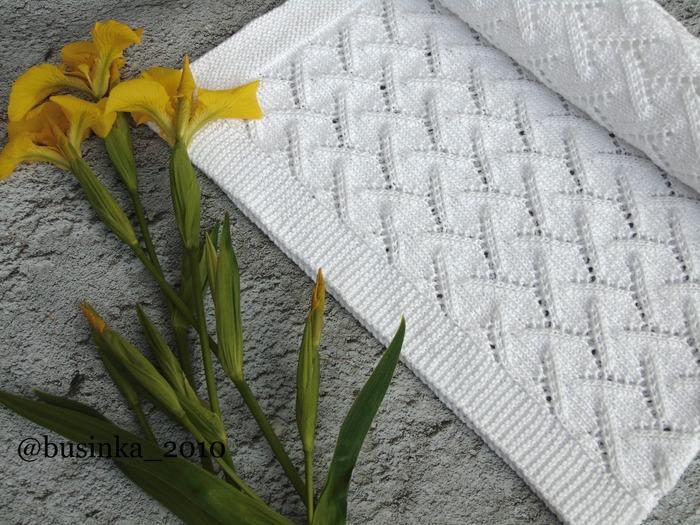 Фото. Детский плед для внука спицами «Care».  Автор работы - Бусинка2010