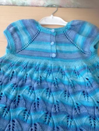 Фото. Платье из Ализе на 2 года.  Автор работы - kasatka788