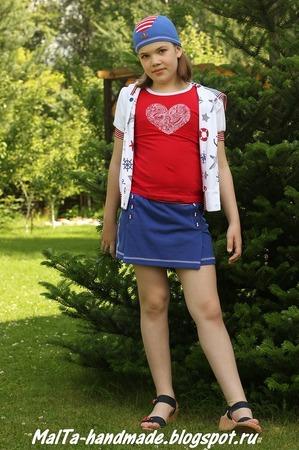 Фото. Футболка, шорты и бандана.  Автор работы - MalTa