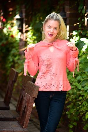 Фото. Ажурый  свитерок. Пряжа Alize Baby Wool.   Автор работы - Nadja S