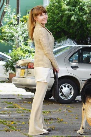 Фото. Брючный костюм из альпаки с шелком.   Автор работы - BelkaV