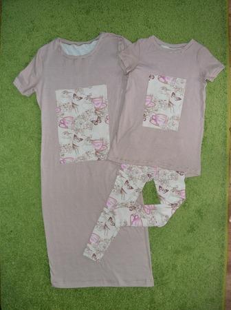 Фото. Семейный комплект (платье и туника с лосинами) для мамы с дочкой. Автор работы - Кристиана