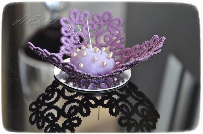 Фото. Игольница для бисерных иголок (фриволите). Дизайн Ольги Крохин.  Автор работы - Allesha