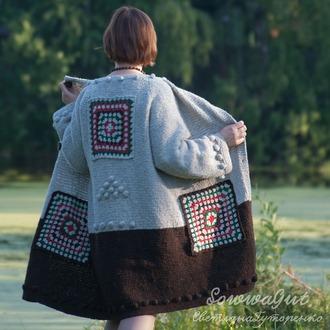 Фото. Авторский комплектик: твидовые пальто-кардиган.  Автор работы - SvetlanaGut