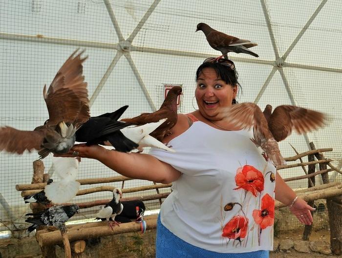Фото. Туника с маками. И птицами. Автор работы - Веревочк@