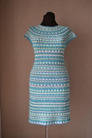 Фото. Платье по мотивам Ванессы Монторо (бобинный хлопок). Автор работы - Исоид