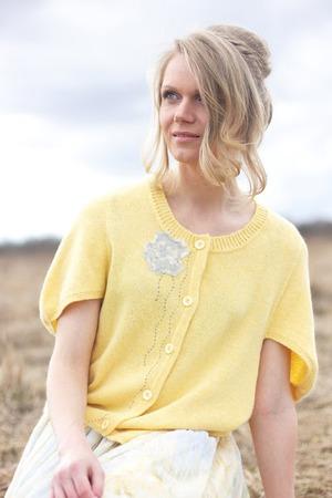 """Фото. Жакет """"Желтый цветок"""" с боро-декором. Автор работы - олЁна и ежик"""