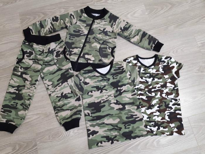 Фото. КАМУФЛЯЖНЫЙ БУМ Костюм и футболки для мальчика.  Автор работы - Сахаринка