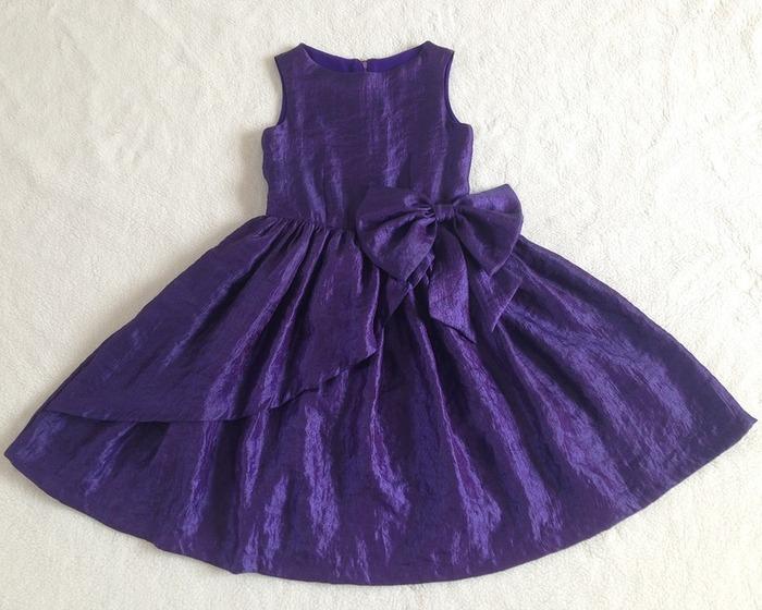 Фото. Платье на выпускной в детском саду. Ткань - хлопок с органзой.  Автор работы - Olgati