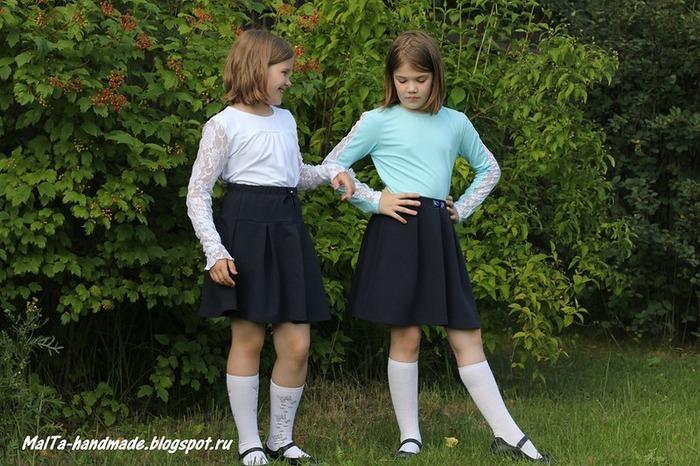 Фото. Школьная форма для дочек.  Автор работы - MalTa