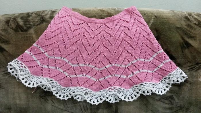 Фото. Вязаная юбка для девочки.  Автор работы - lana29.09