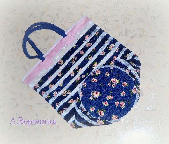 Фото. Легкая сумочка с прозрачным эффектом из капронового тюля и шелка. Автор работы - Карманьола