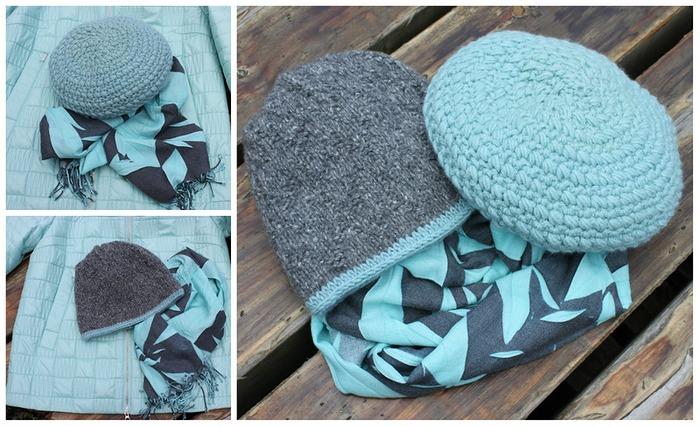 Фото. Готовимся к осени. Комплект: беретик из Ланы Голд и двойная шапочка. Автор работы - Январка