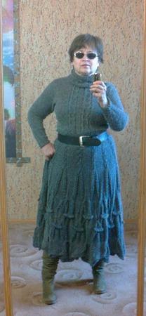 Фото. Готовимся к зиме. Платье из альпака. Автор работы - Nikita 13