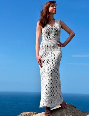 Фото. Вязаное платье.  Автор работы - fusha