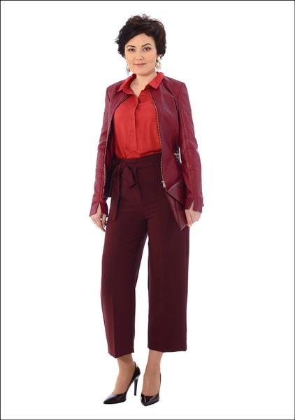 Комплект №4 . Куртка, блуза, кюлоты, сумка-конверт и серьги – Mango. Туфли – Moda di Fausto, магазин AIT