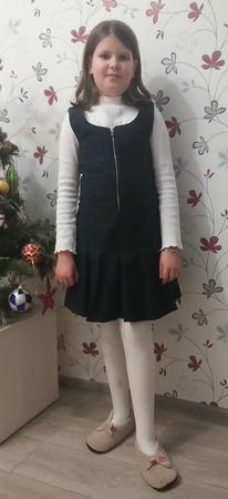 Фото. Школьный сарафан из шерстяной костюмки.  Автор работы - Александра-81