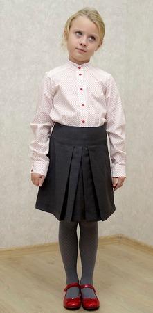 Фото. Блузка с воротником-стоечкой - отголоски гимназических времен. Автор работы - Сахарный Пончик