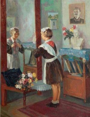 """Фото. Волков А.В. """"Первое сентября"""",  1951"""