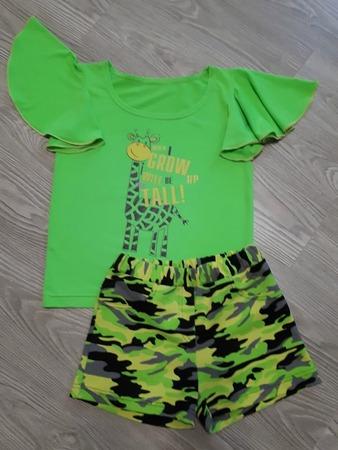 Фото. Камуфляжные шорты и блузка для дочери.  Автор работы - Сахаринка