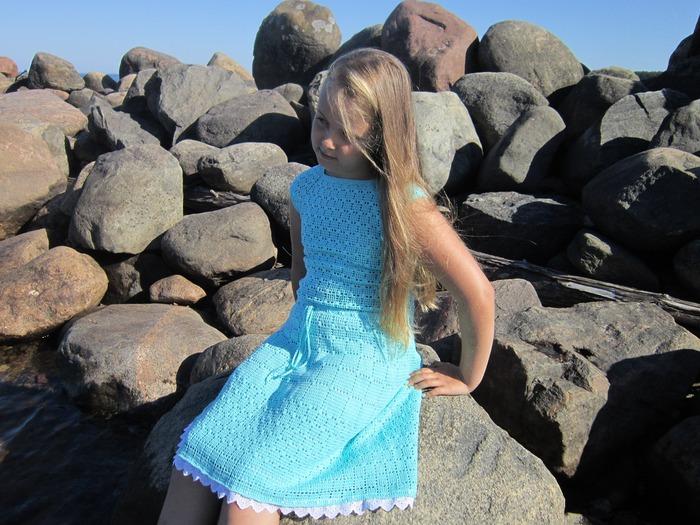 """Фото. Платье """"Ассоль"""". Пряжа 100% хлопок Коко от Вита.   Автор работы - Я_Таня"""