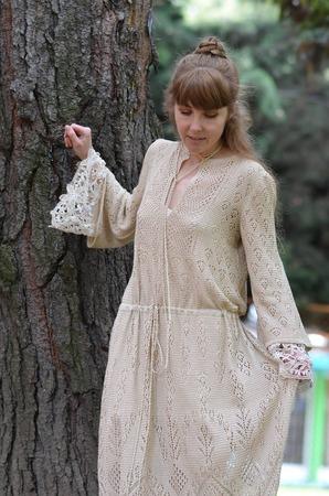 Фото. Платье связано из 100% шелка.  Автор работы - BelkaV