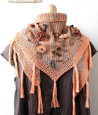 Фото. Шарф-платок или неглубокая шаль с удлиненными кончиками. Автор работы - innasun
