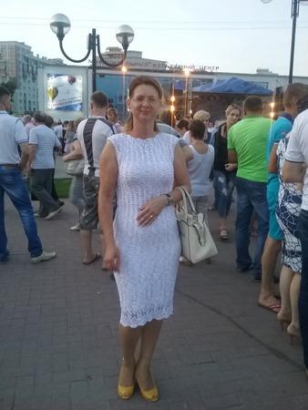 Фото. Платье крючком из семеновской пряжи.  Автор работы - MDragun