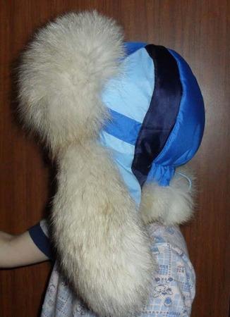 Фото. Шапка-ушанка дочери из остатков от куртки. Автор работы - это Калинка