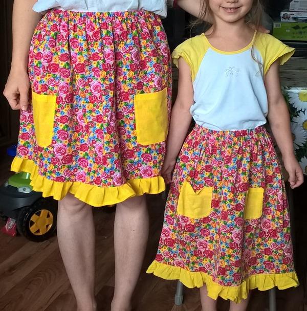 Фото. Для мамы и дочки - юбочки. Автор работы - Осень-осень