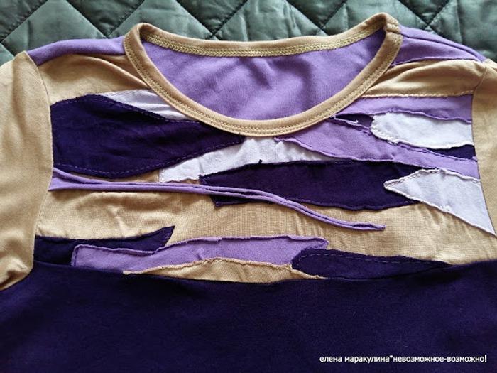 Фото. Эксклюзивная дизайнерская футболка для дочери  Автор работы - Елена весенняя