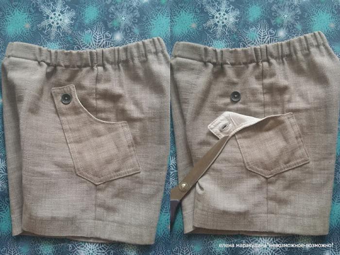 Фото. Льняные шорты для сына. Автор работы - Елена весенняя