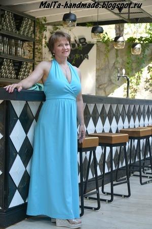 Фото. Красивое платье для отпуска. Автор работы - MalTa