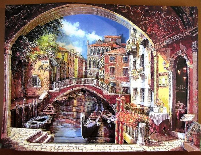 """Фото. """"Венеция"""" - новая работа в технике папертоль. Автор работы - Simfony"""