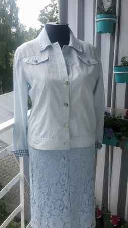 Фото. Летняя капсула. Джинсовая куртка-рубашка. Автор работы - Наталья-я