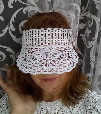Фото. Летний козырек от Ирины Имиловой. Машинная вышивка.   Автор и работы - wersik
